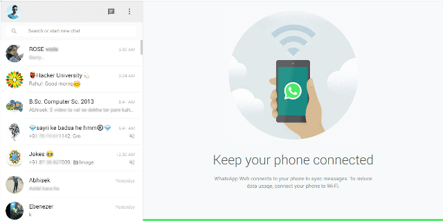 Use Whatsapp on Google Chrome