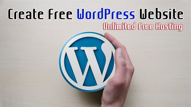 Create Wordpress Website for Free