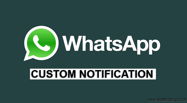 Whatsapp Custom Notification per Contact