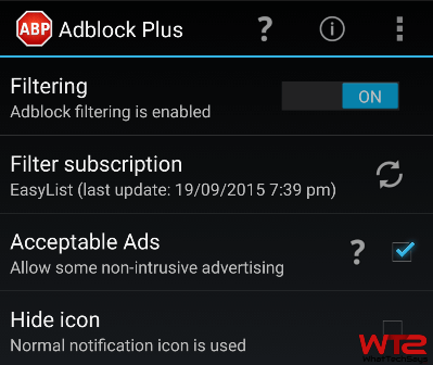 Block ads Android
