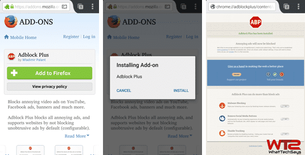 Adblock Plus Extension on Mozilla Firefox