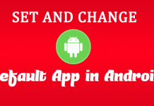 How to Set and Change Default App in Android