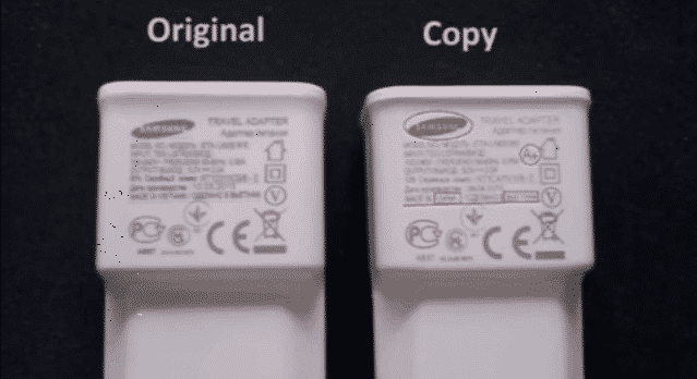 samsung fast charger vs fake