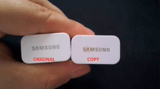 original vs fake samsung charger