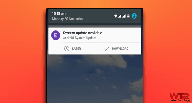 Remove System Update Notification on Android