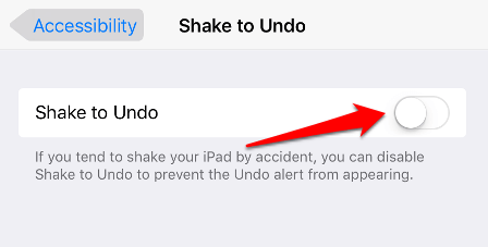 Disable Shake to Undo