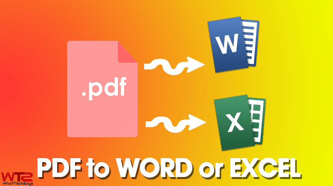 How to Convert PDF Files to Excel/Word