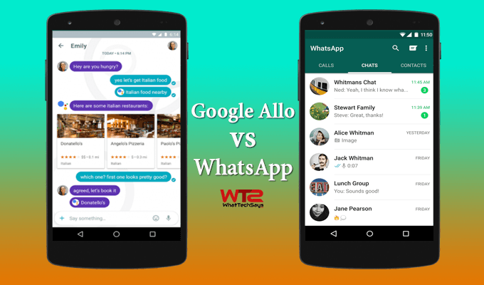 Google Allo vs WhatsApp