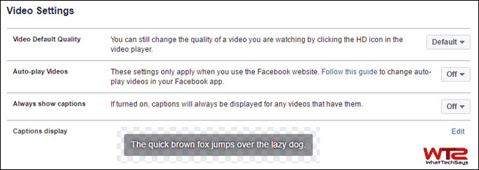 Turn Off Facebook Video Autoplay on PC
