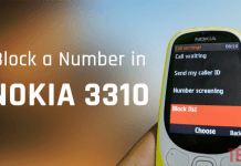 block a number on Nokia 3310