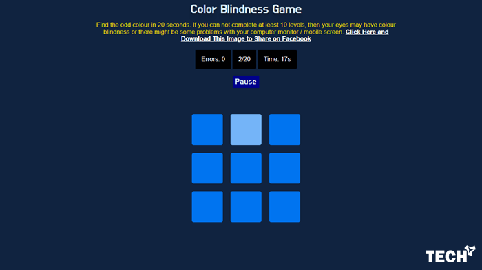 Test Color Blindness Online